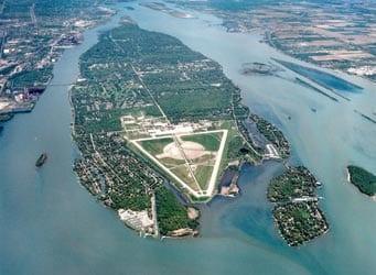 Aerial photo of Grosse Ile, Michigan