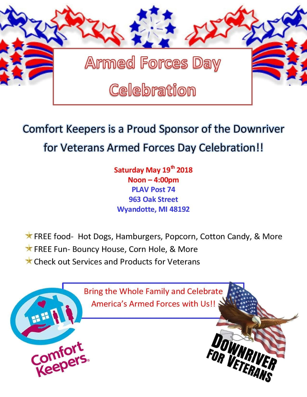 Armed Forces Day Celebration @ PLAV Post 74 | Wyandotte | Michigan | United States