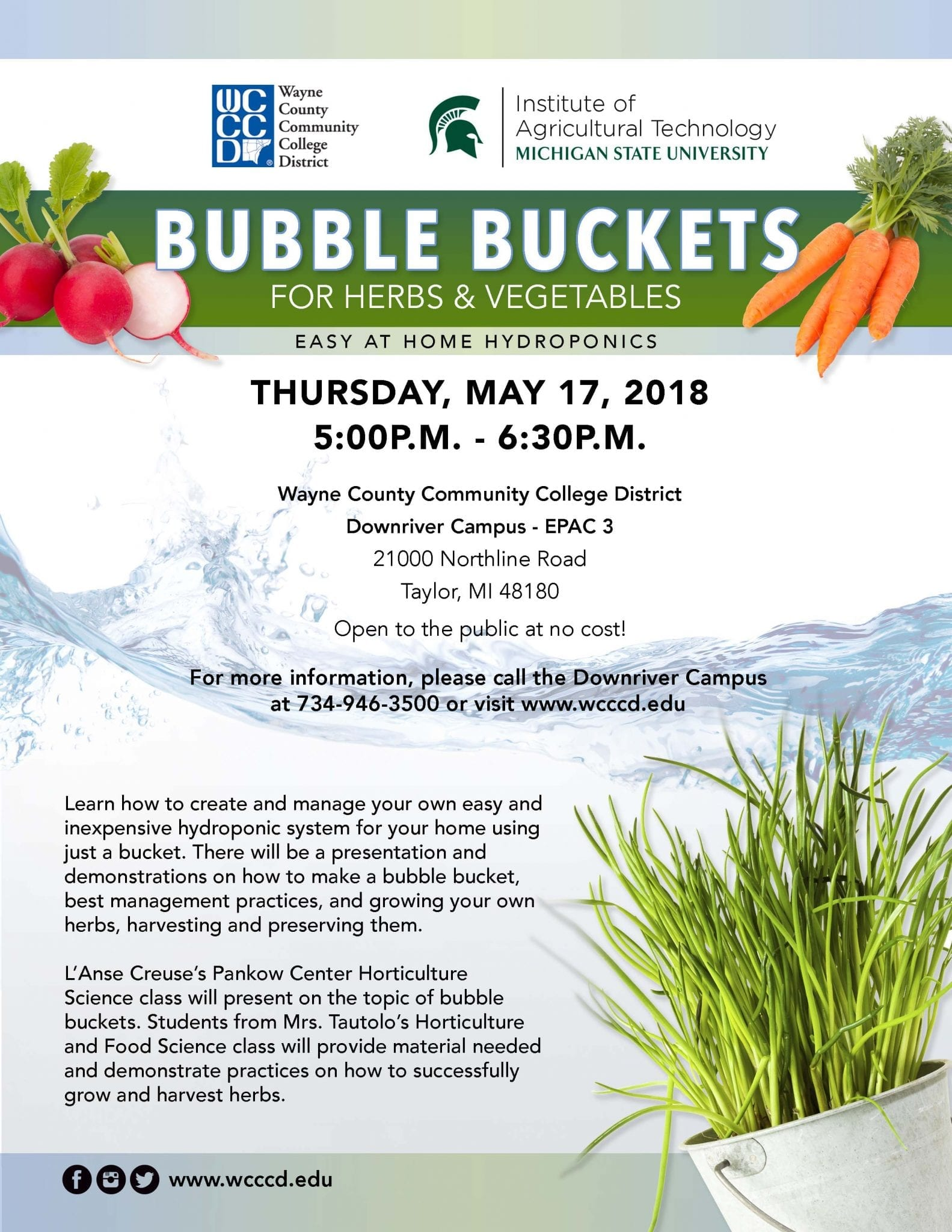 Bubble Buckets @ Wayne County Community College District | Taylor | Michigan | United States