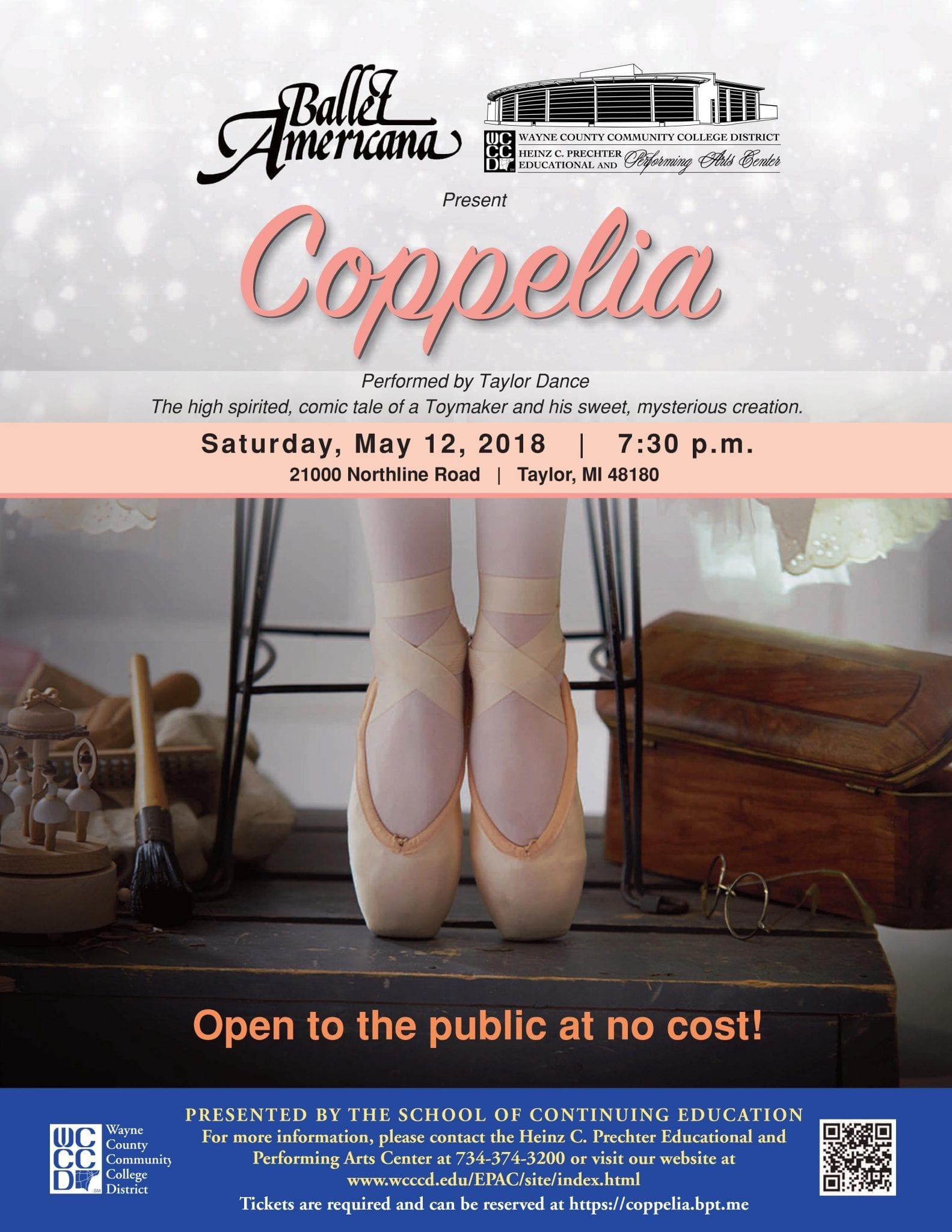 Coppelia @ Wayne County Community College District | Taylor | Michigan | United States