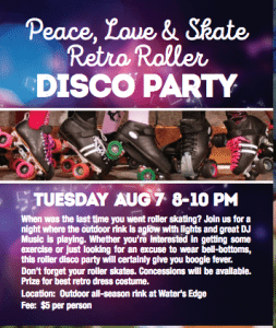 Peace, Love & Skate Retro Roller Disco Party @ Water's Edge | Grosse Ile Township | Michigan | United States