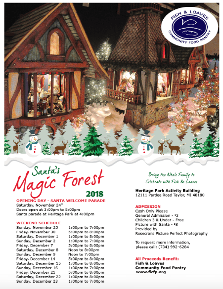 Santa's Michigan Forest @ Heritage Park Activity Building | Taylor | Michigan | United States