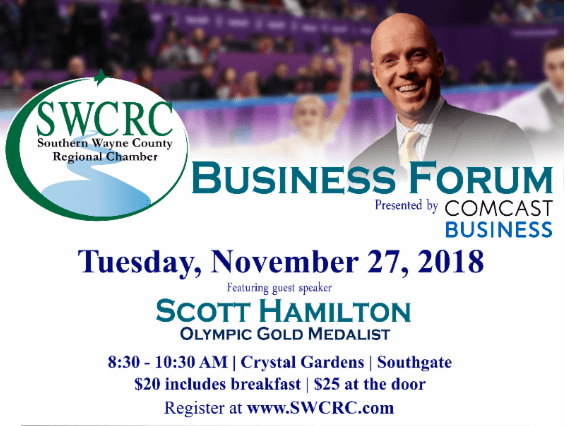 2018 BUSINESS FORUM SERIES Featuring Scott Hamilton Olympic Gold Medalist @ Crystal Gardens | Southgate | Michigan | United States