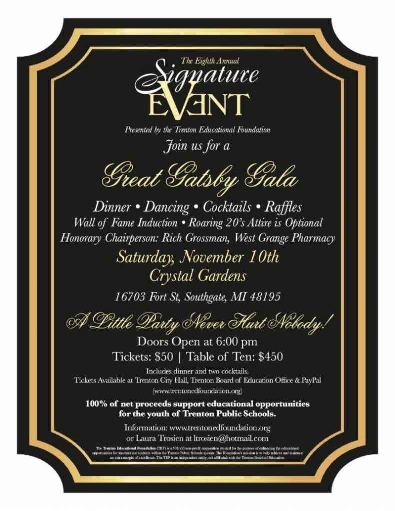 TEF Signature Event: Great Gatsby Gala @ Crystal Gardens | Southgate | Michigan | United States