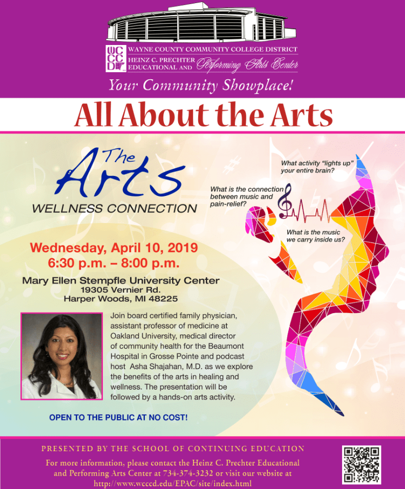 All About the Arts: Wellness Connection @ Mary Ellen Stempfle University Center | Harper Woods | Michigan | United States