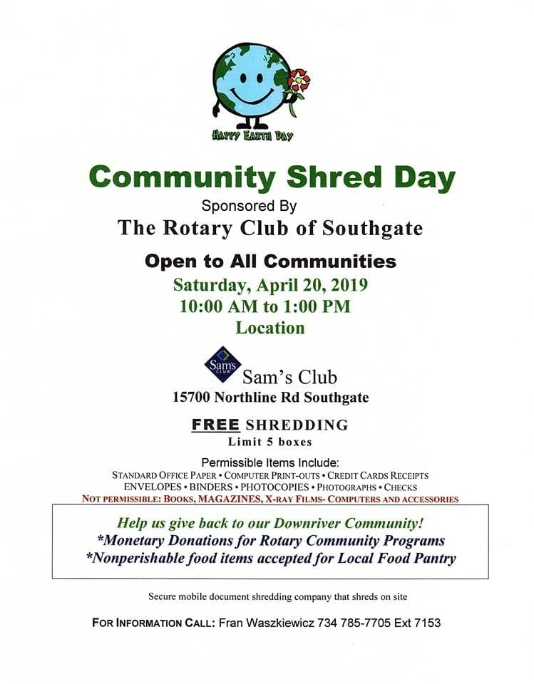 Community Shred Day | Discover Downriver