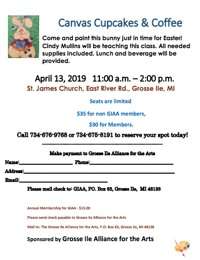 GI Alliance for the Arts Painting Event @ St. James Church | Grosse Ile Township | Michigan | United States