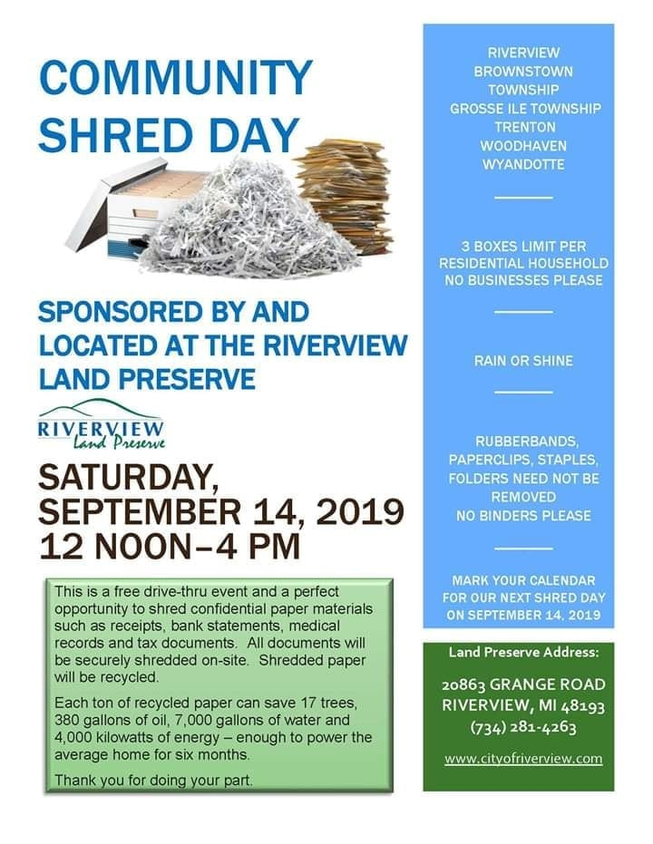 Community Shred Day @ Riverview | Michigan | United States