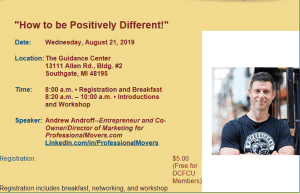 """How to be Positively Different!"" @ The Guidance Center 