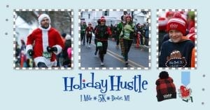 2019 Holiday Hustle 1M & 5K @ Monument Park | Dexter | Michigan | United States