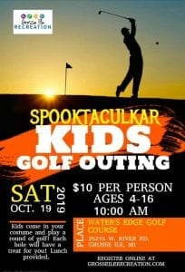 Spooktacular Kids Golf Outing @ Water's Edge Golf Course | Grosse Ile Township | Michigan | United States