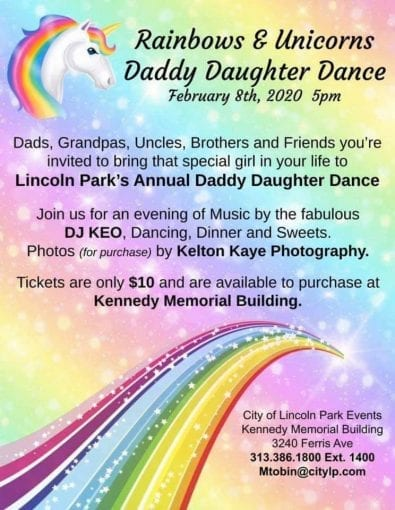 Daddy Daughter Dance @ Kennedy Memorial Building | Lincoln Park | Michigan | United States
