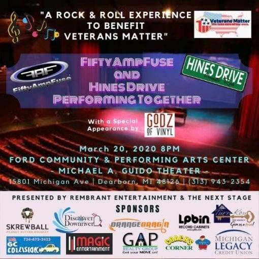 FiftyAmpFuse & Hines Drive Performing Together @ Ford Community & Performing Arts Center | Dearborn | Michigan | United States