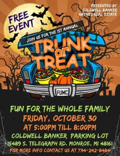 Trunk or Treat @ Coldwell Banker Parking Lot